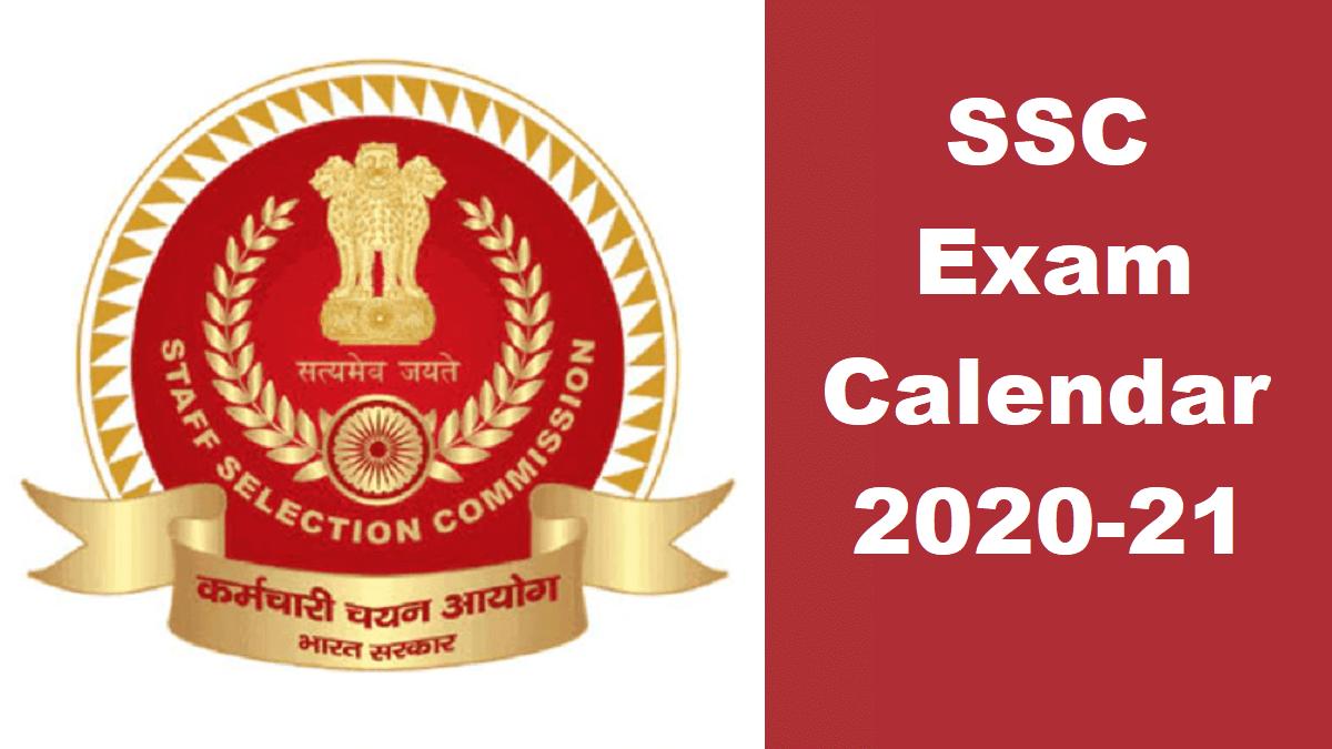 SSC Exam Calendar 2020-2021 New PDF