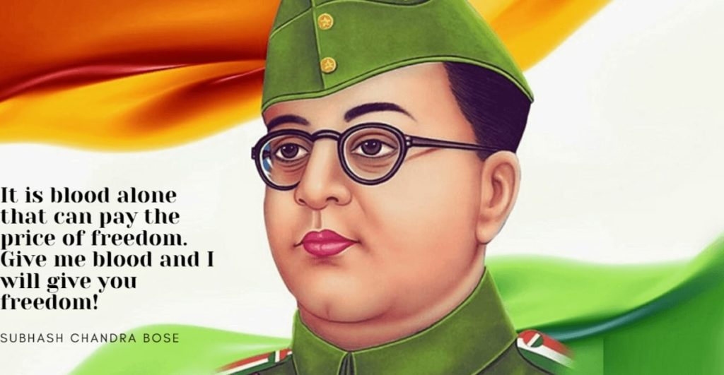 Happy Subhash Chandra Bose Wishes Images Quotes in English