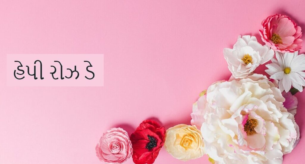 Happy Rose Day Wishes Images with Quotes in Gujarati
