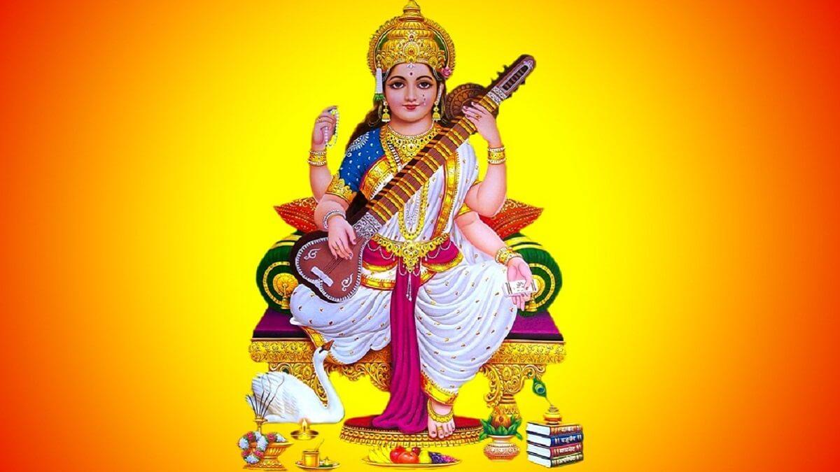 lord shree saraswati mata ji ki aarti in hindi and english
